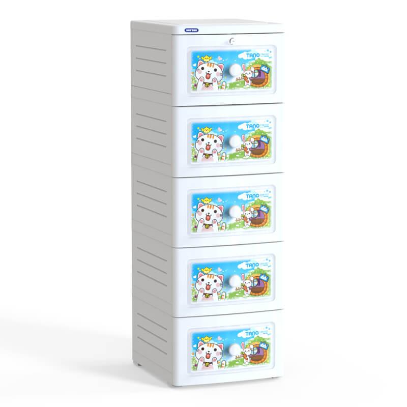 Tủ nhựa Duy Tân Tano 5 ngăn No.221/5 ( 40 x 45 x 120 cm ) Màu sắc - Họa tiết ngẫu nhiên