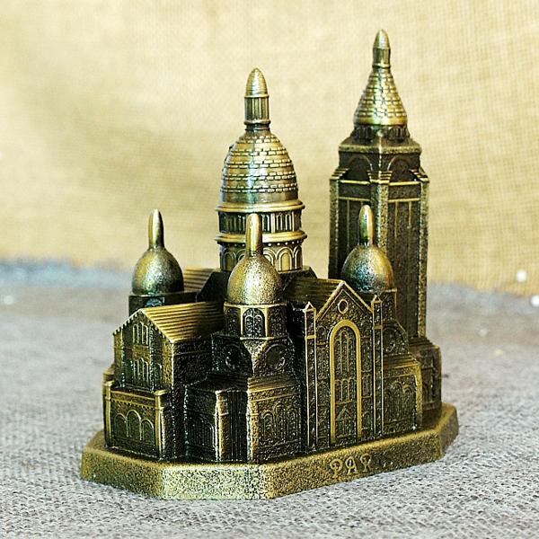Mô hình vương cung thánh đường Sacre-Coeur - Màu Vàng Rêu