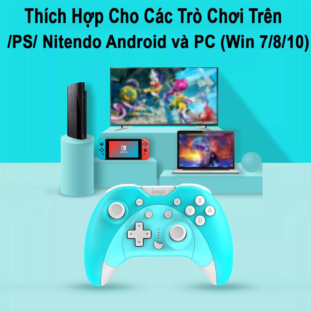 IPEGA Tay Cầm Chơi Game Bluetooth PG-SW023A - Bộ Điều Khiển Trò Chơi Sáu Trục Rung Không Dây Dành Cho Bảng Điều Khiển N-S/P3/Android/PC (Win7/8/10) Màu Đen - Hàng Nhập Khẩu