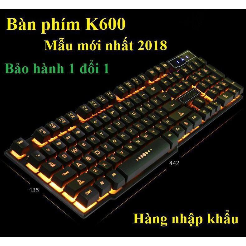 Bàn phím máy tính,Bàn phím K600 Tương Thich Với Mọi Hệ Điều Hành - Mẫu mới nhất 2019