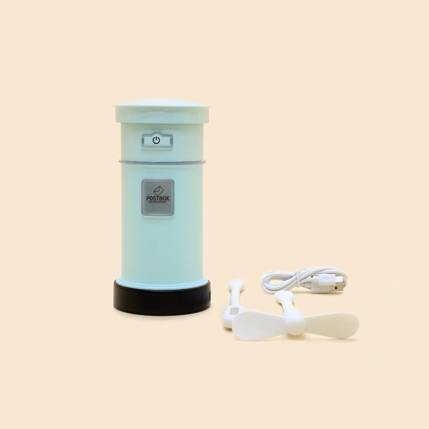 Máy Xông + Đèn + Quạt Hình Hộp Thư - Essential Oils Diffuser Mail Box S20