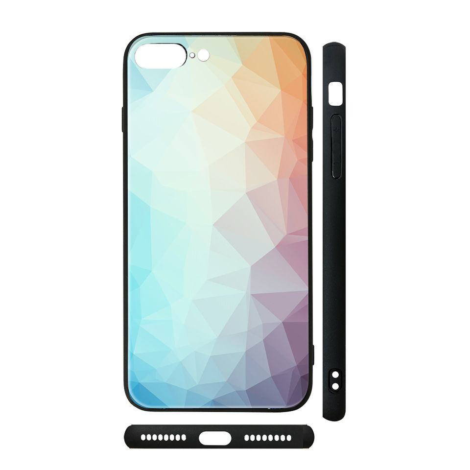 Ốp kính cho iPhone in hình Vân kim cương - BG0002 có đủ mã máy - iPhone 6 - 6s