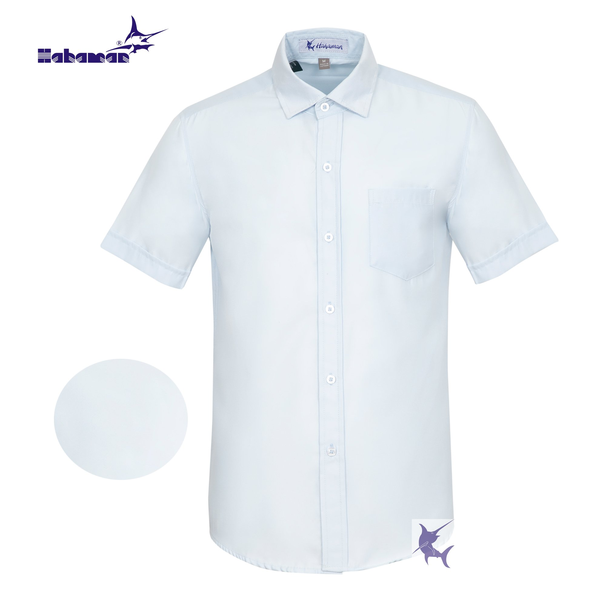 Áo sơ mi nam vải kate công sở HAHAMAN cao cấp SMCS1001