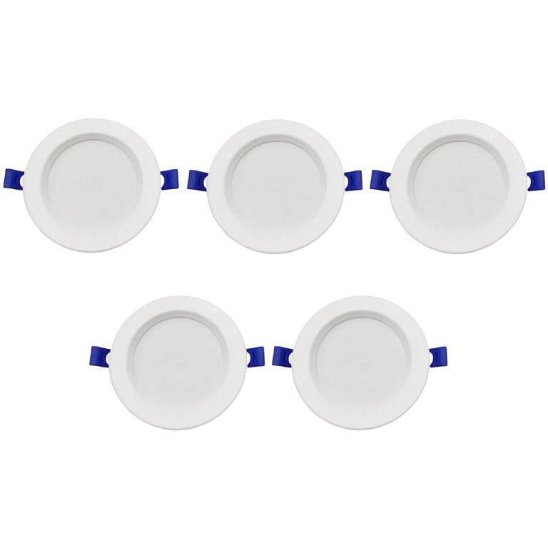 Bộ 5 Đèn Led âm trần 5w ánh sáng trắng hàng chính hãng.