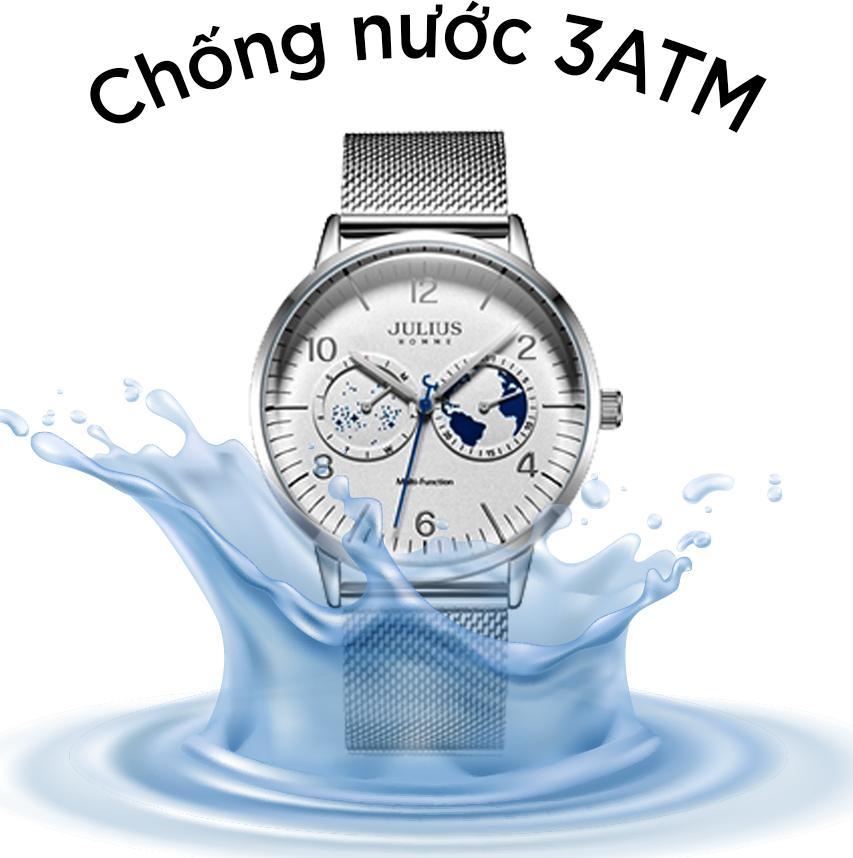 Đồng Hồ Nam Julius Homme JAH-117 Dây Thép