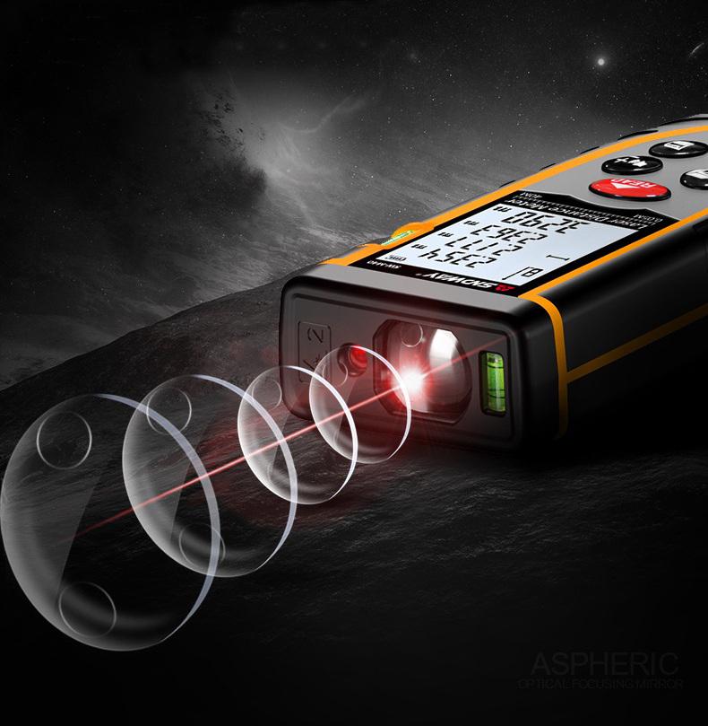 Thước Đo Khoảng Cách Bằng Tia Laser SNDWAY Phạm Vi 50m SW-M50 Cao Cấp AZONE