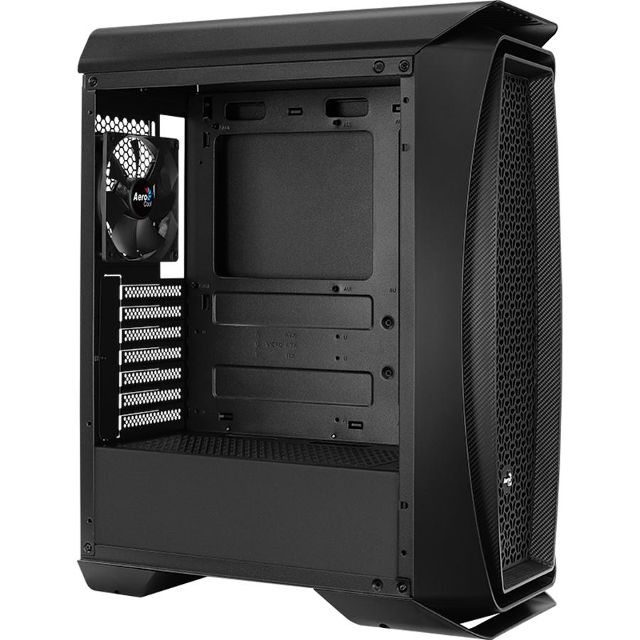 Vỏ Case máy tính AEROCOOL AERO ONE G-BK GLASS EDITION BLACK - Hàng Chính Hãng