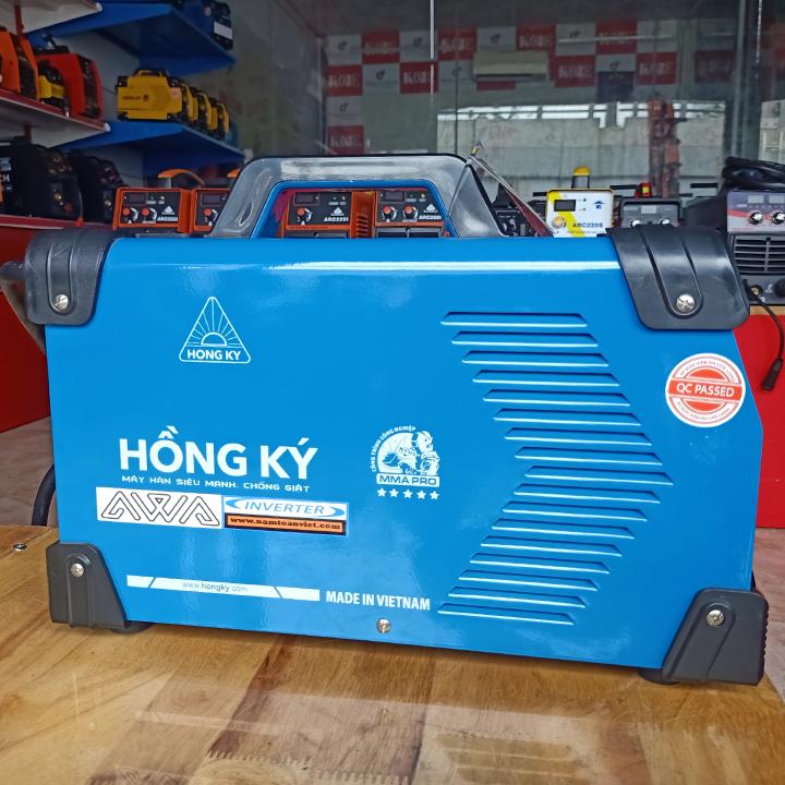 Máy hàn Hồng Ký AWA 200 PRO Chính hãng chuyên que hàn 2.5 - 5.0 ly - Tặng dây kìm hàn dài 5 mét, dây kẹp mát dài 2 mét lõi đồng 100%