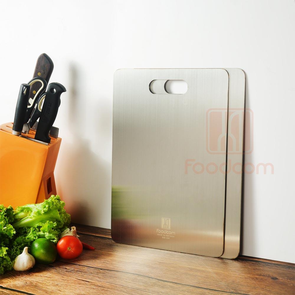 Thớt inox cao cấp 304 Foodcom chống ẩm mốc, kháng khuẩn