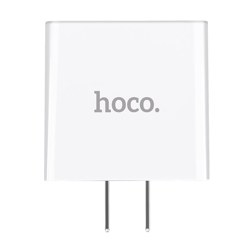 Cốc sạc 3 cổng Hoco C15 3A dành cho IPHONE/IPAD hỗ trợ sạc nhanh- màn hình LCD hiển thị điện áp (trắng) - Hàng Chính Hãng