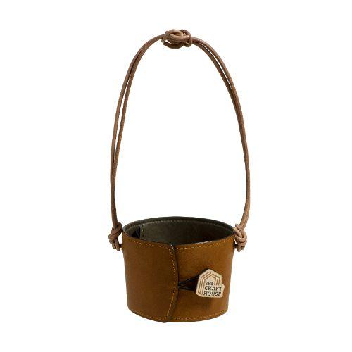 Quai Da Đựng Bình Nước Cao Cấp - Premium Leather Cup Holder Edition