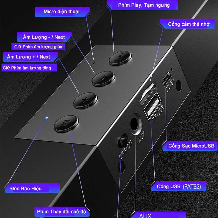 Loa thanh soundbar bluetooth YINDIAO A36 - Hàng Nhập Khẩu