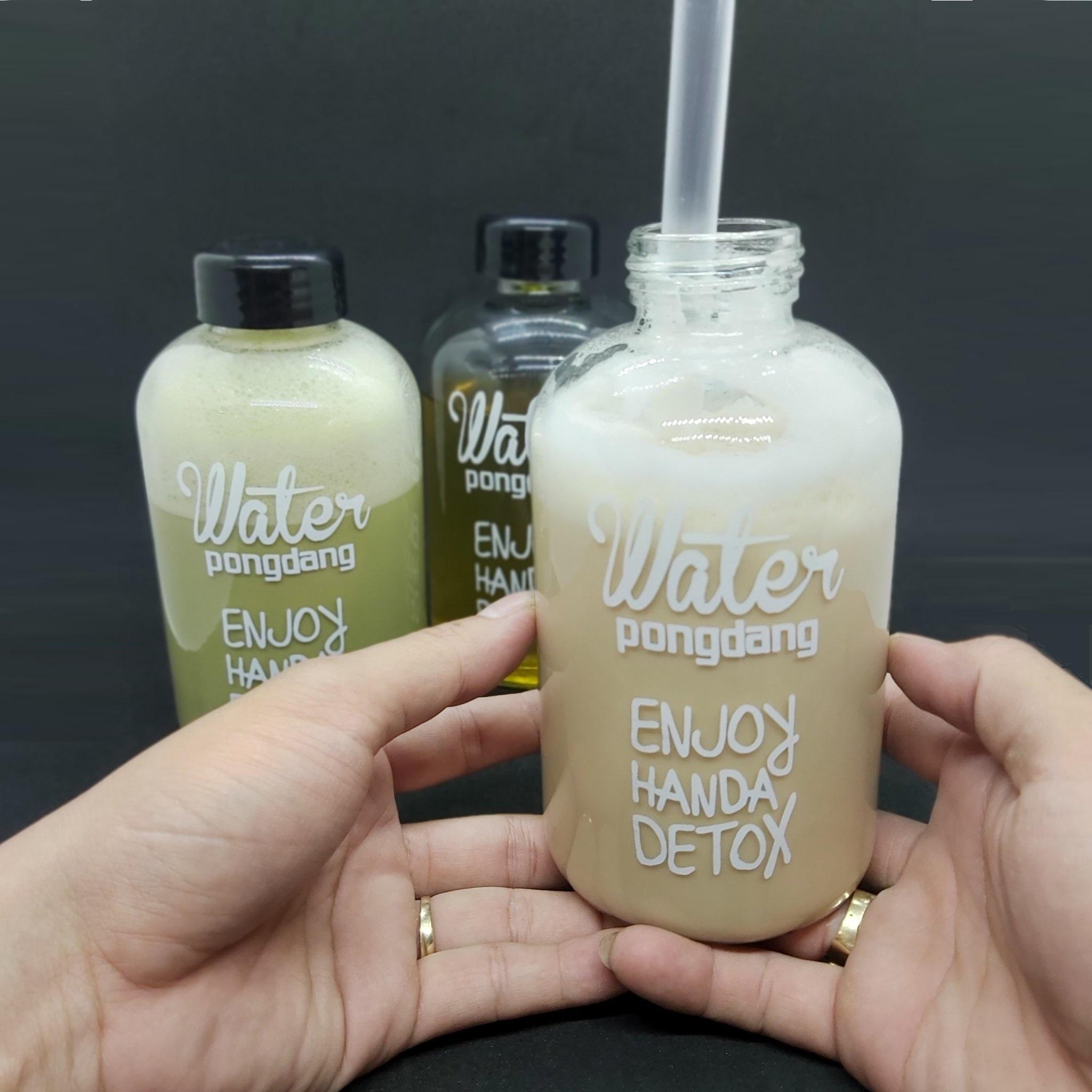 Combo 6 Chai Thủy Tinh đựng nước DETOX 600ML - Nắp nhựa có giăng cao su - thủy tinh dày cao cấp siêu chịu lực  (Bình đựng nước, đựng sữa, chai đựng nước ép)