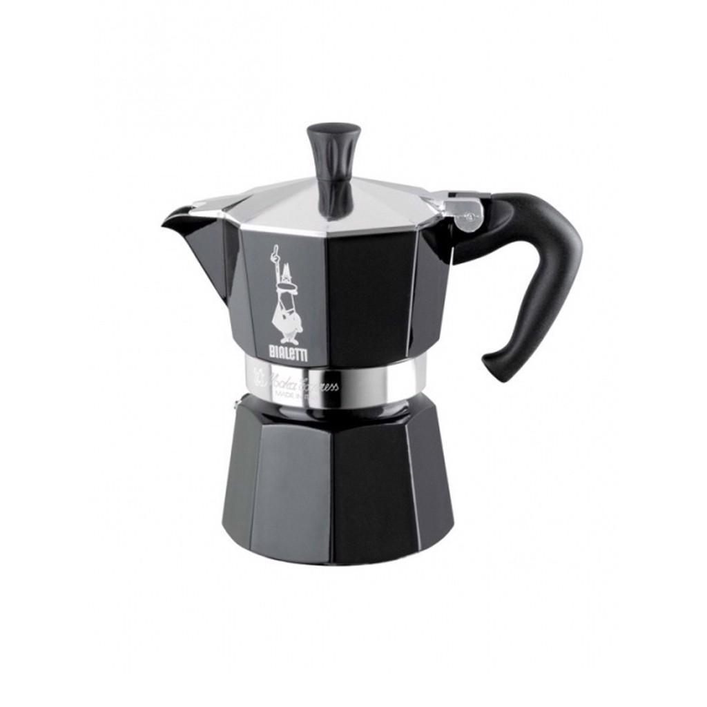 Bình pha cà phê Bialetti - Mokka 3 cup màu đen - 0004952