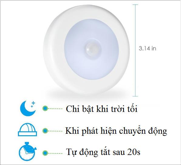 Đèn LED Cảm Ứng Dán Tủ Nhỏ Gọn, Tiện Lợi.