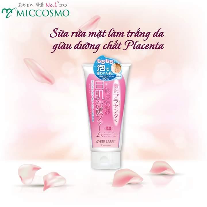 Sữa Rửa Mặt Dưỡng Da Trắng Mịn White Lable Premium Placenta Wash (110g)