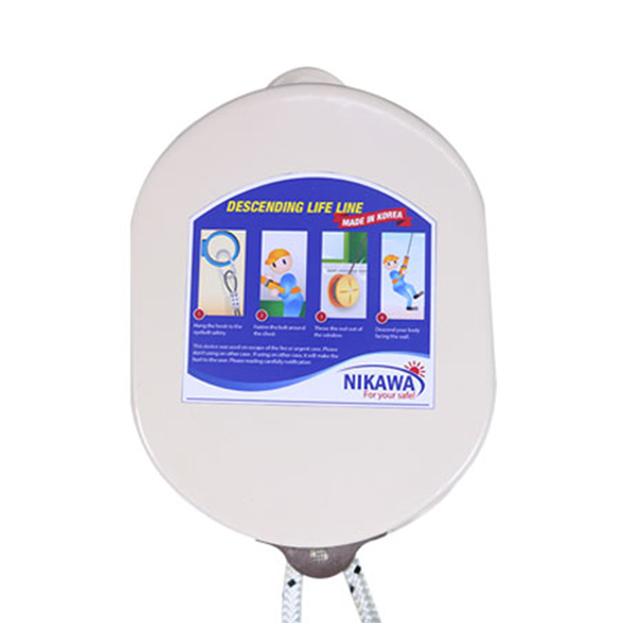 Dây Thoát Hiểm Cá Nhân Nikawa KDD-5F (15m) - Tặng Giá Treo Móc Nikawa HY-01