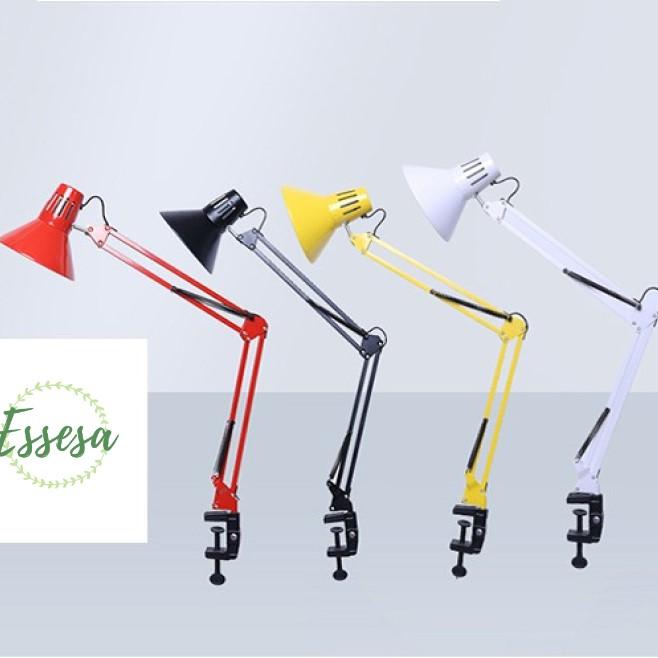 Đèn Kẹp Để Bàn/Đèn Kẹp Đọc Sách/Đèn Bàn Làm Việc ESSESA Chóa Cổ Điển Độc Đáo Kiểu Pixar, Sử Dụng Cho Bóng Đèn Gắn Rời Đuôi E27 Thông Dụng, Tiện Lợi (Sản Phẩm Bán Không Kèm Bóng Đèn)