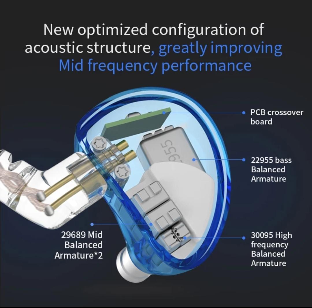 Tai nghe cao cấp 10 Driver BA CCA A10 âm thanh tuyệt hảo, có micro - Hàng chính hãng