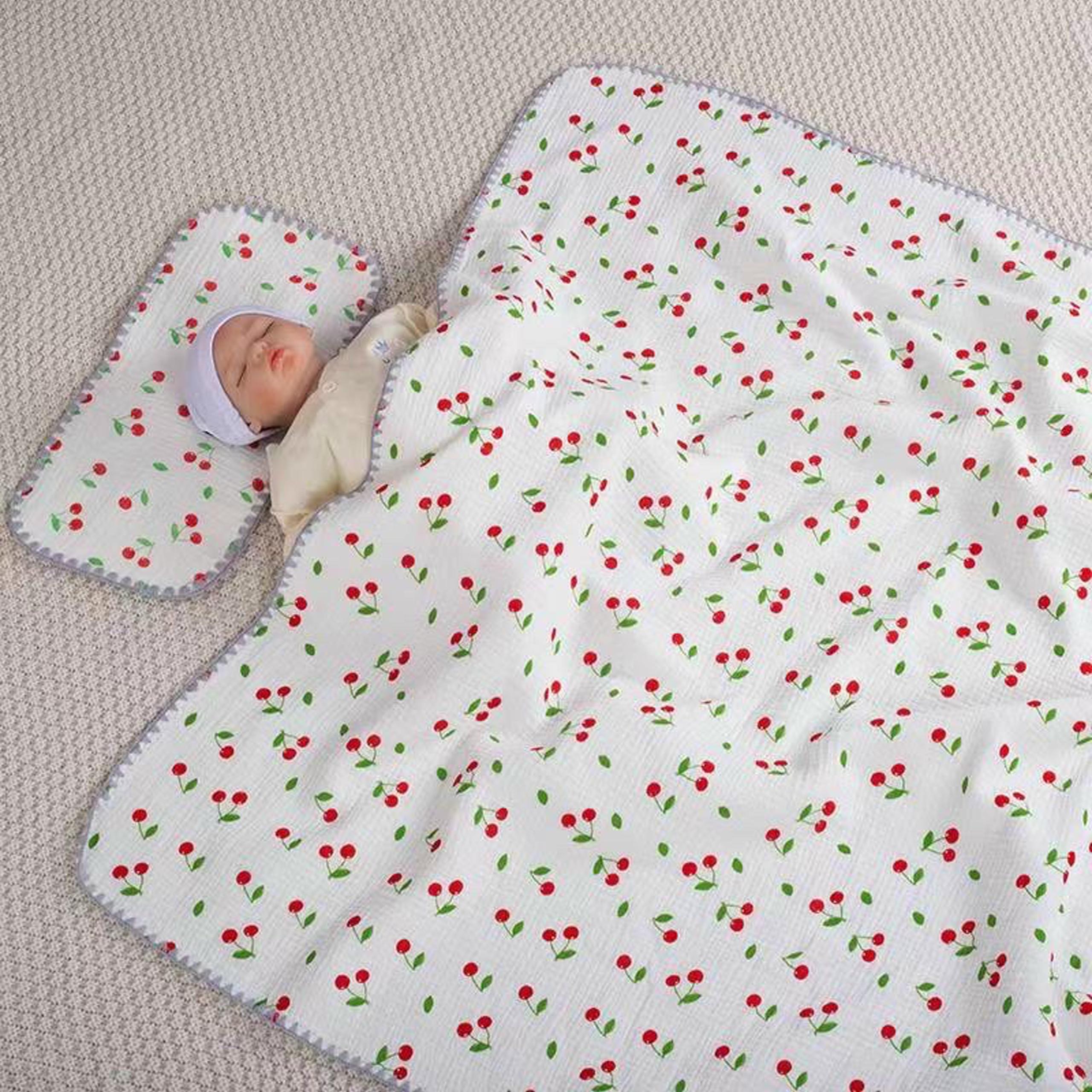 Bộ chăn gối xô chất liệu cao cấp mềm mịn thoáng kích thước 110x110cm cho bé ngủ, nhỏ gọn tiện lợi cho bé đi học mẫu giáo