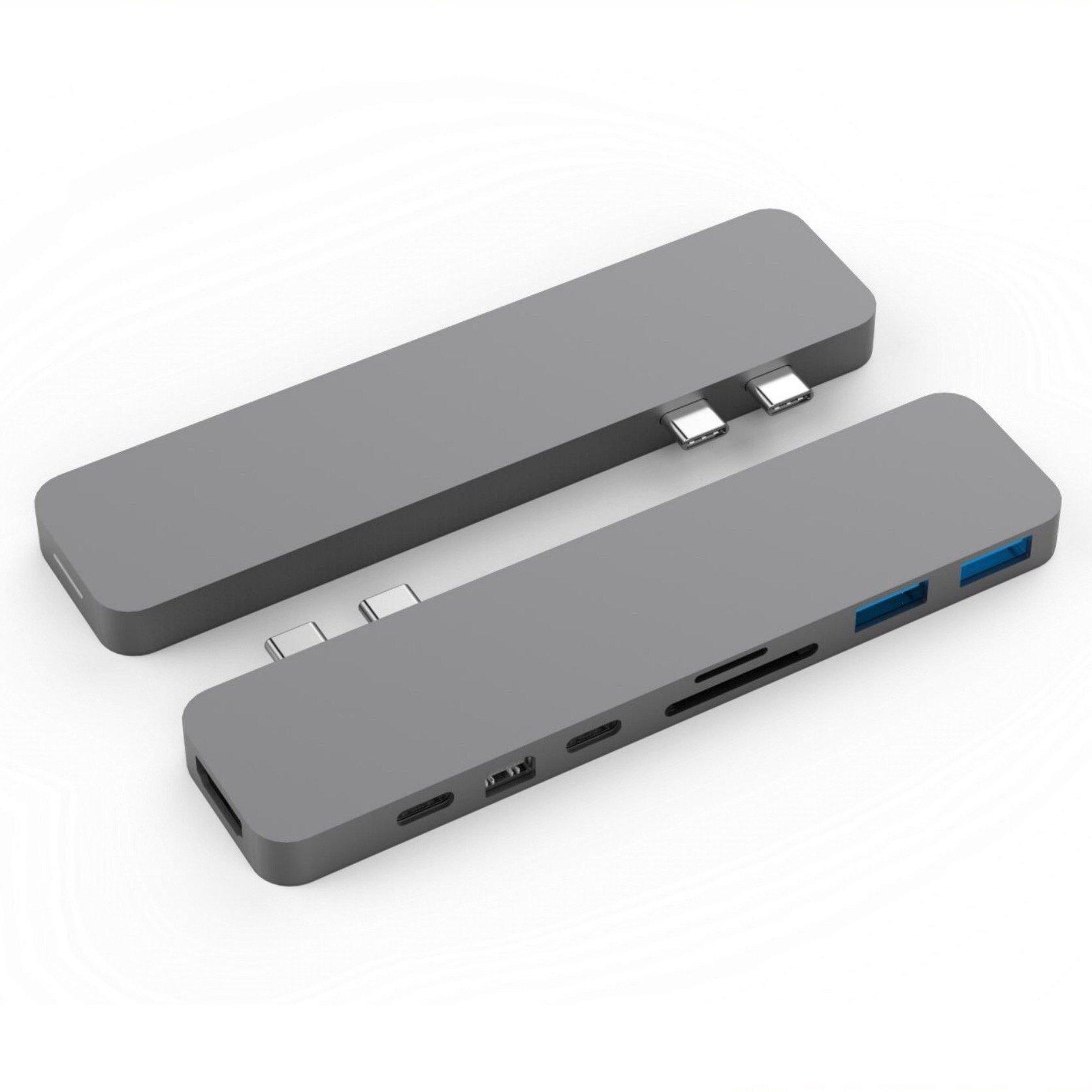 CỔNG CHUYỂN HYPERDRIVE PRO 8-IN-2 HUB FOR USB-C MACBOOK PRO/AIR - Hàng Chính Hãng - GN28D Gray