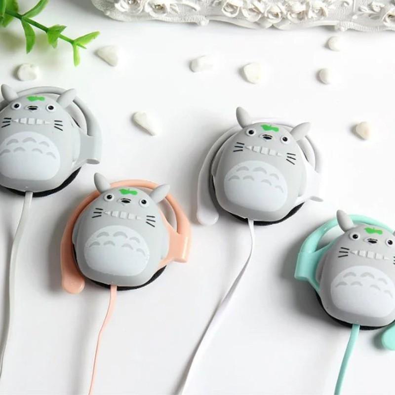 Tai nghe hoạt hình dễ thương, tai nghe gấu, totoro, thỏ kute