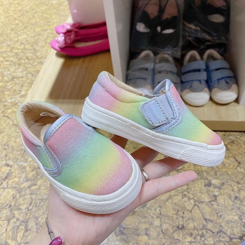 Giày slip-on nhũ ombre mau pastel PLACE xuất xịn sz 18-36