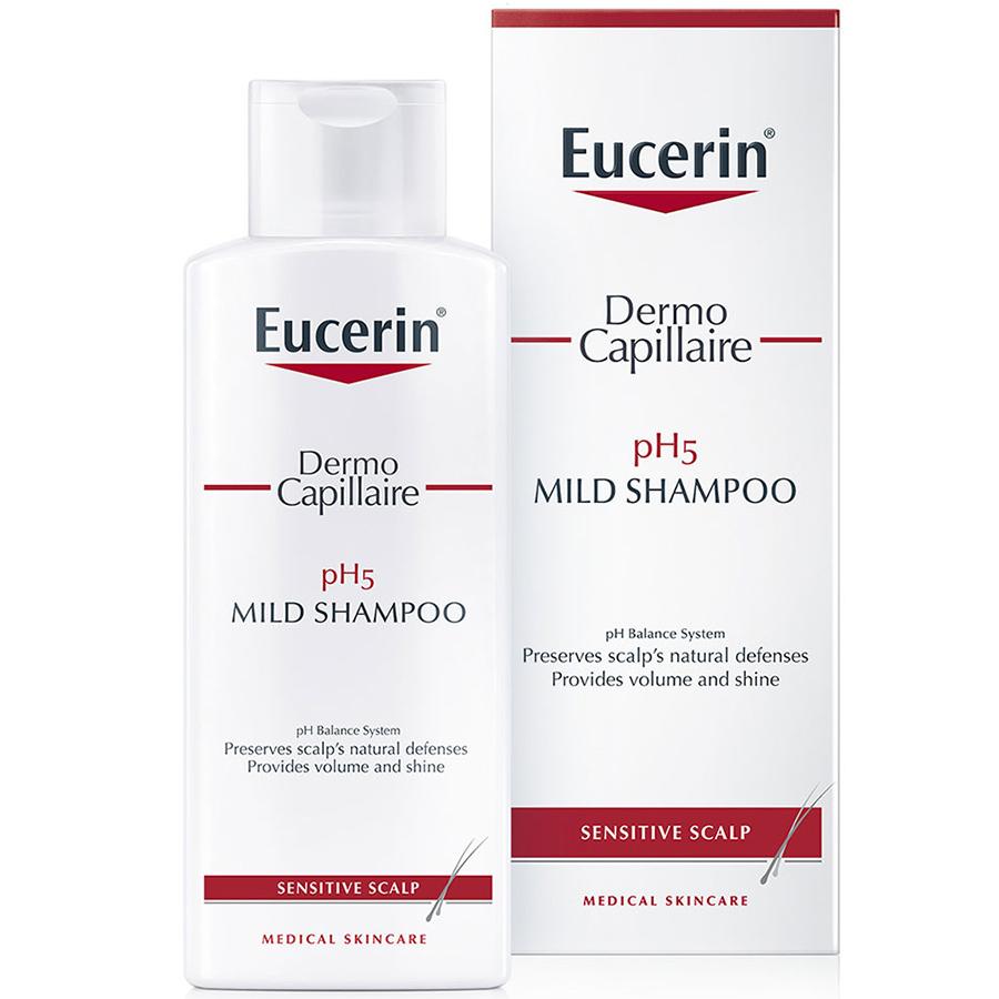 Dầu Gội Dịu Nhẹ Cho Da Đầu Nhạy Cảm Eucerin Dermo Capillaire Ph5 Mild Shampoo (250ml)