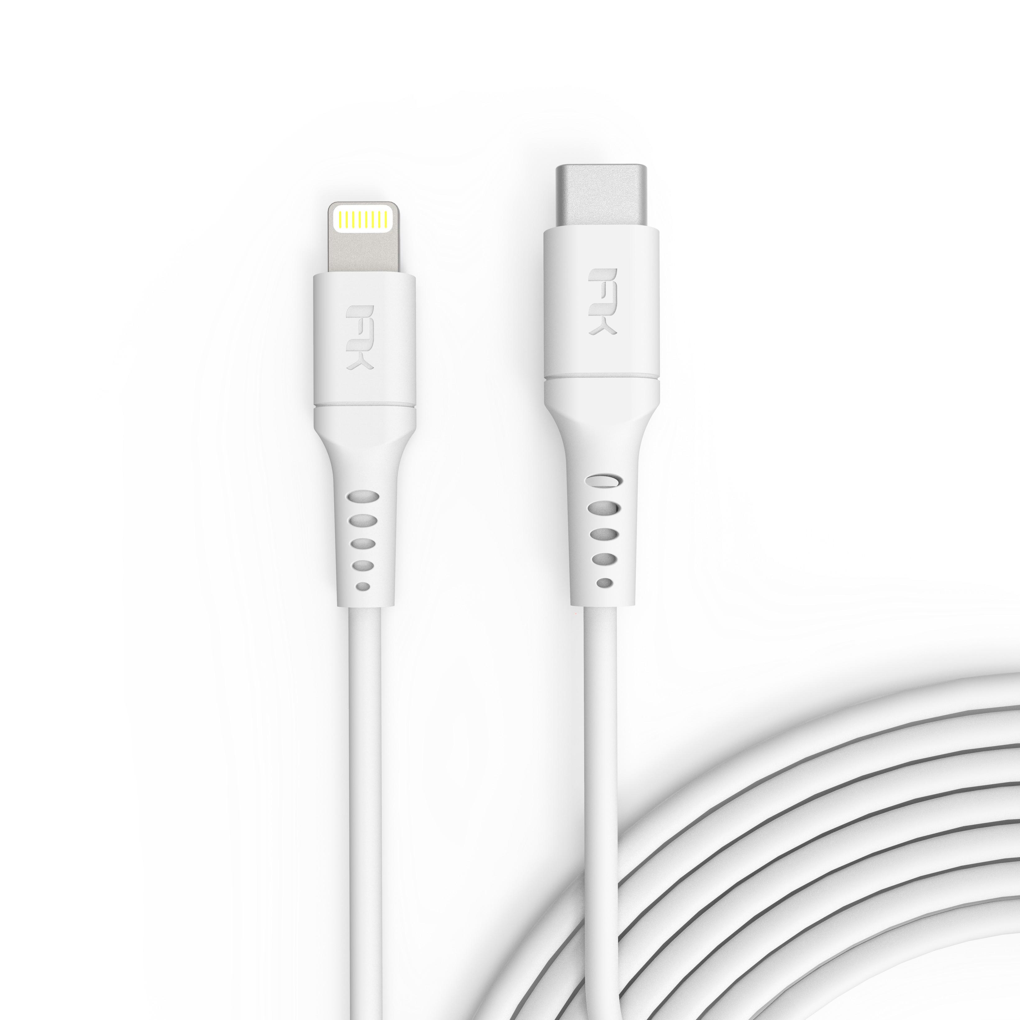 Cáp Sạc Feeltek USB-C to Lightning Chuẩn MFi Cho iPhone Air Lightning 1m8 - Hàng Chính Hãng