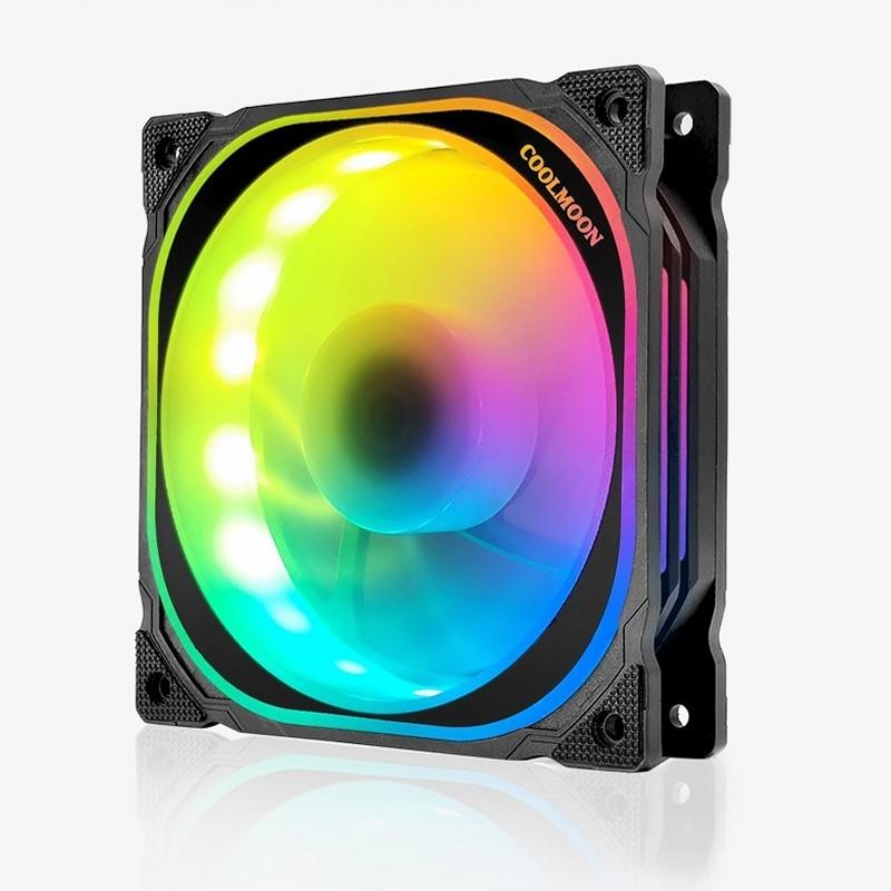 Quạt Led RGB Coolmoon FS 12cm cho máy tính - hàng nhập khẩu