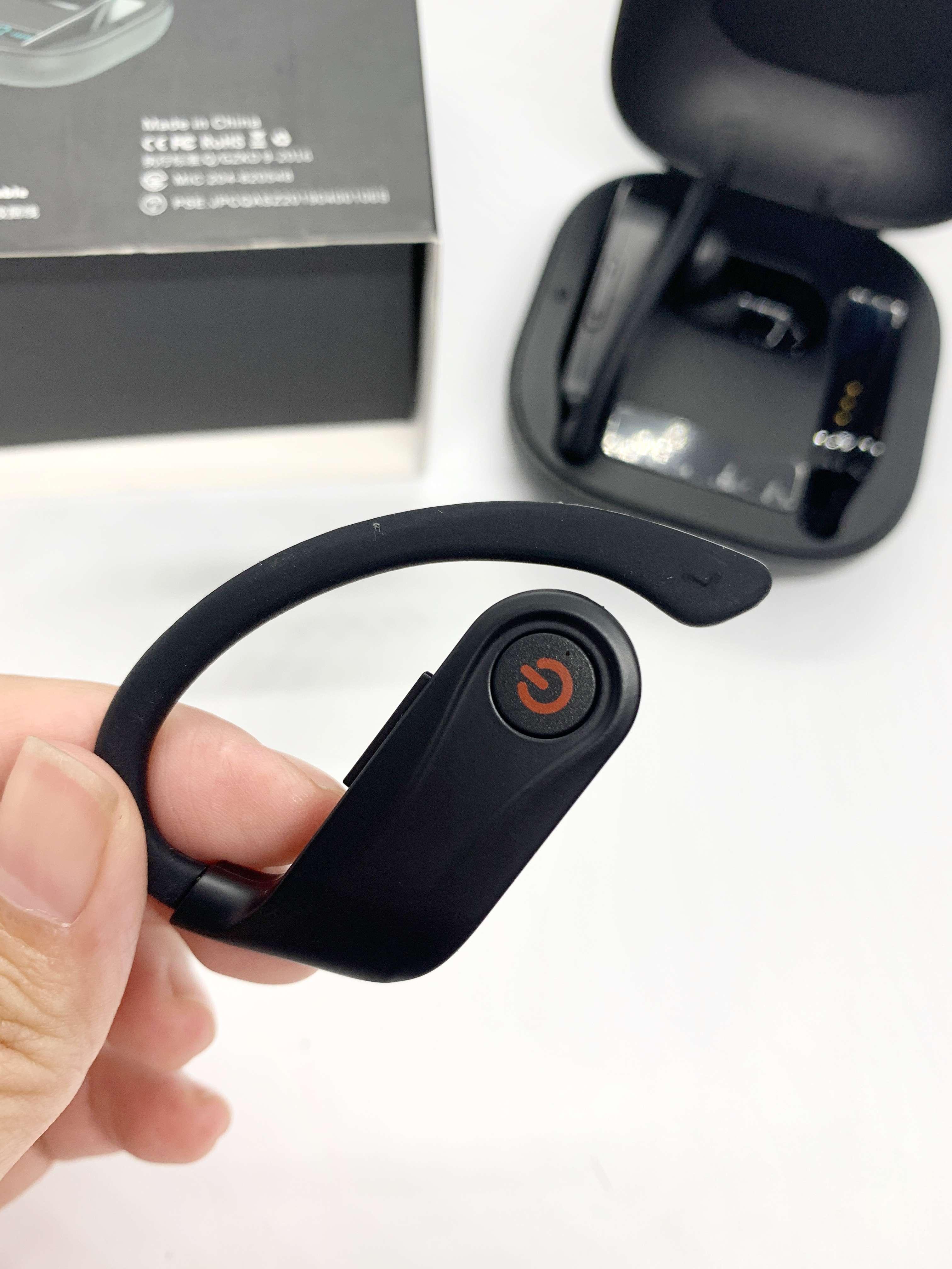 Tai nghe Bluetooth thể thao,Tai nghe Bluetooth nhét tai cao cấp không dây POWERHBQ, dạng vòng móc vành, chống thấm nước.