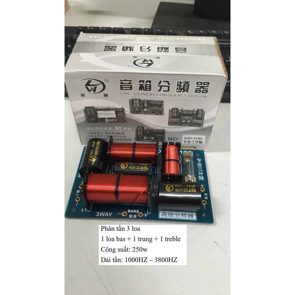 Bộ Phân Tần 3 Loa Công suất 250W DAS-3180