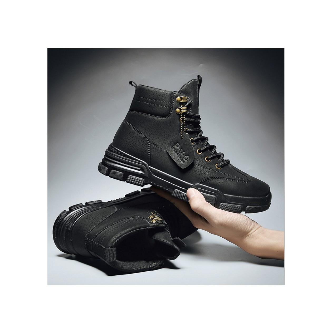 Giày cao cổ nam, boots nam mẫu mới hot trend SP-362