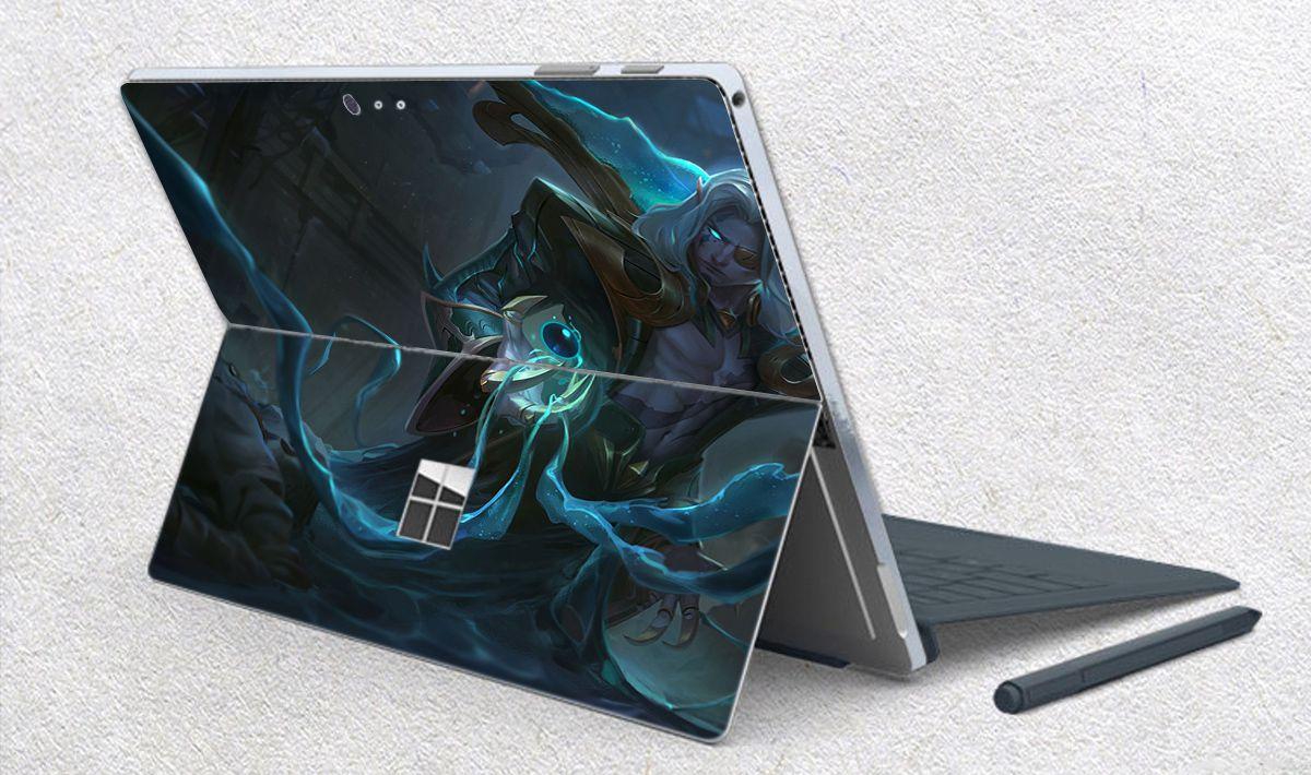 Skin dán hình Liên Minh Huyền Thoại x11 cho Surface Go, Pro 2, Pro 3, Pro 4, Pro 5, Pro 6, Pro 7, Pro X