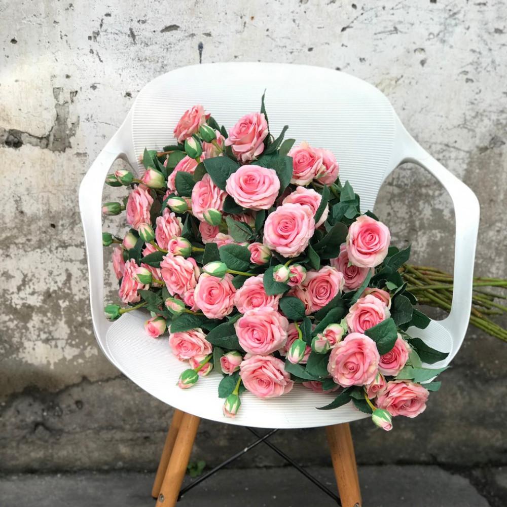 Hoa hồng nhung cao cấp, đẹp hơn hoa thật, không phai màu _ Hoa vải cao cấp
