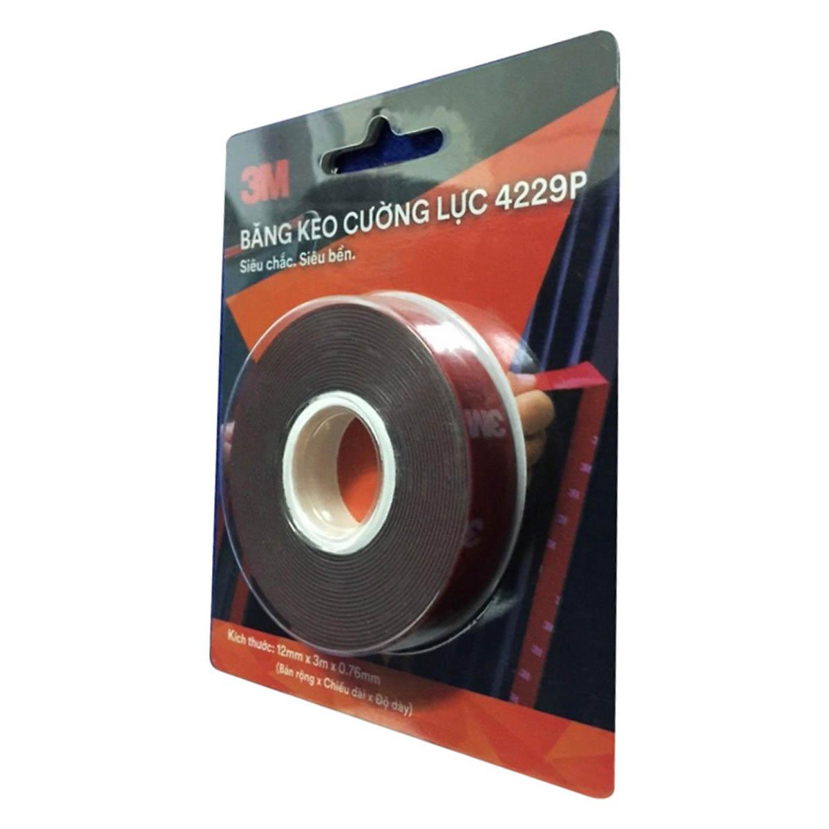 Băng keo tape 2 mặt Cường Lực 3M - 4229P - 12mm x 3m ( siêu chắc, siêu bền )