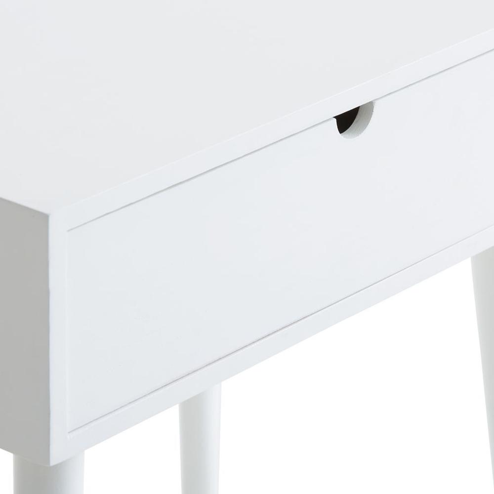 Tủ đầu giường JYSK Ilbro gỗ tự nhiên sơn trắng 45x54x32cm