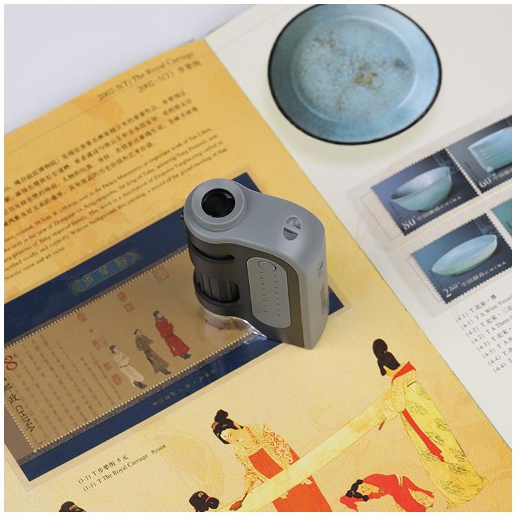 Kính Hiển Vi Bỏ Túi Đa Năng Siêu Nhỏ Gọn Cho Bé Học Tập Zoom (60x-120x) KHV-300