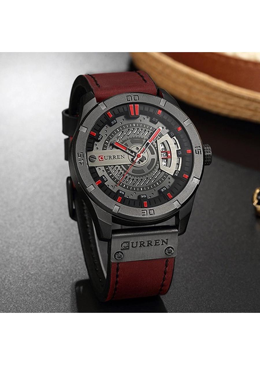 Đồng hồ nam Curren 8301 dây da cao cấp, mặt kính chống nước chống nước