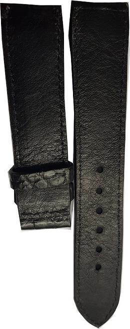 Dây đồng hồ da cá sấu Ruyby Luxury Size 22
