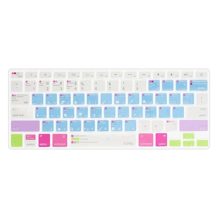 Phủ Phím JCPAL Verskin Photoshop Cho New Macbook Pro 13/15 (Touch-Bar) - Xanh - Hàng chính hãng