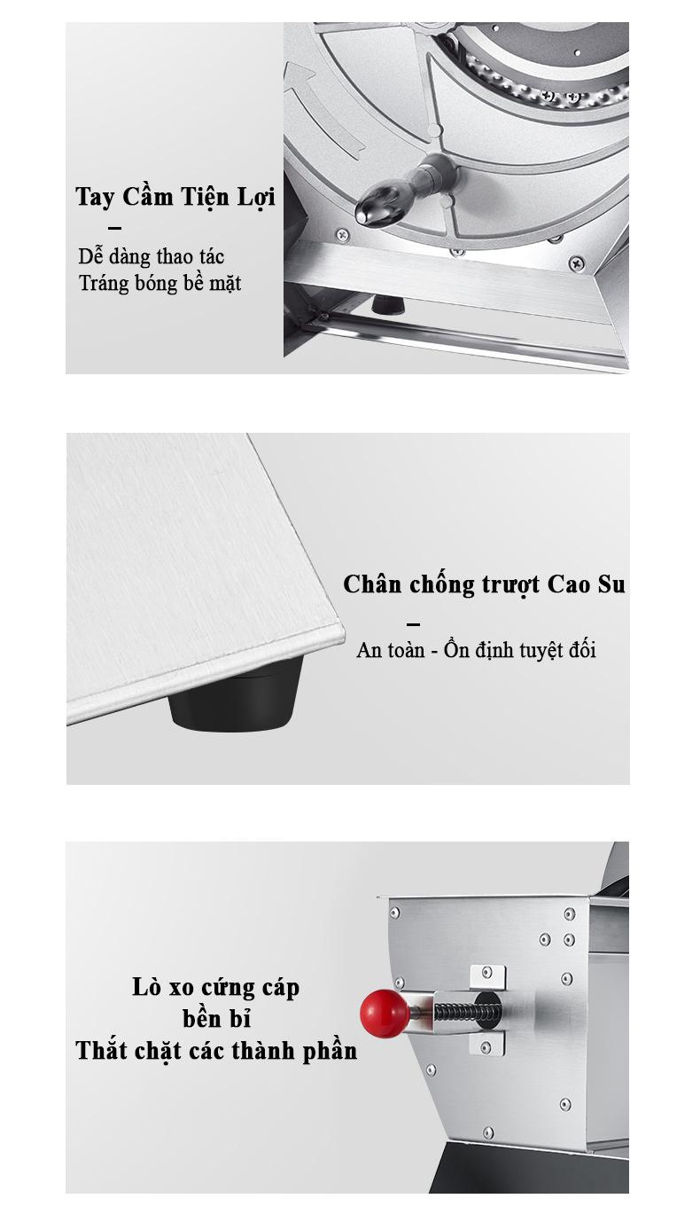 Máy Cắt Hoa Quả Trái Cây Inox Công Nghiệp SL01 Dao Cắt Inox Bền Bỉ, Thủ Công Tiện Lợi