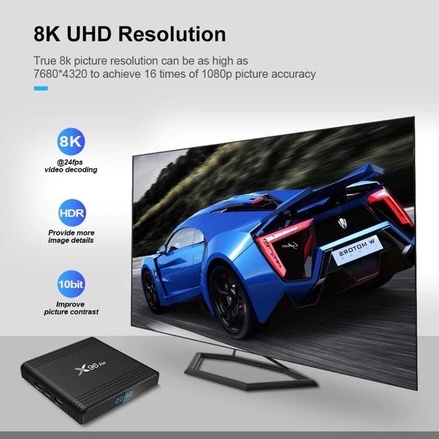TV Box X96 Air Ram2G, Rom16G, Giọng Nói Với Chuột Bay G20s, Android 9 Pie - Hàng Chính Hãng
