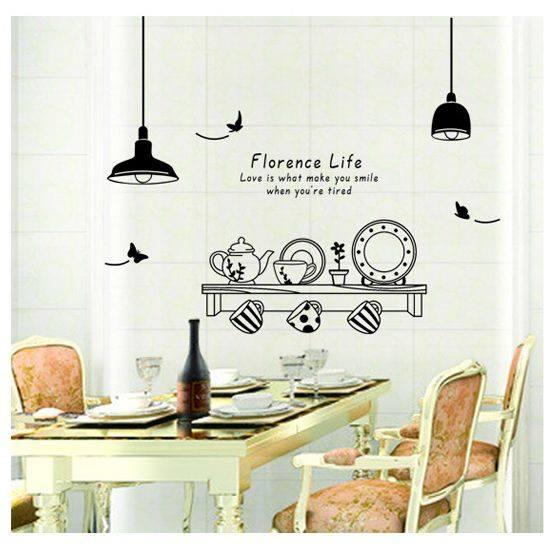 Decal dán tường bếp xinh và đàn mèo - HP436