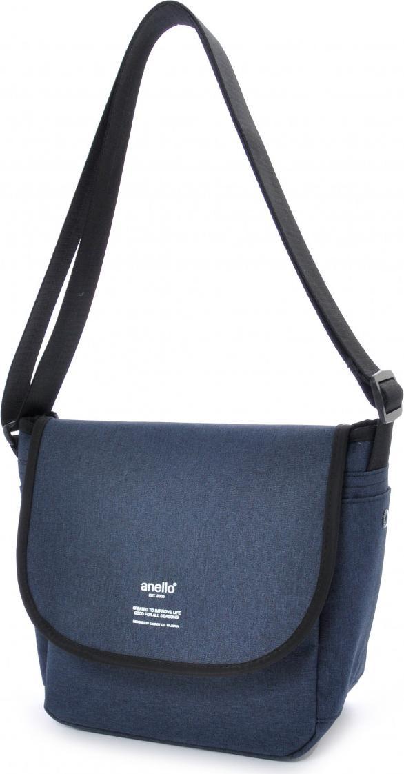 Túi đeo chéo ANELLO unisex vải polyester cỡ nhỏ AT-N0661 - Màu Xanh Navy