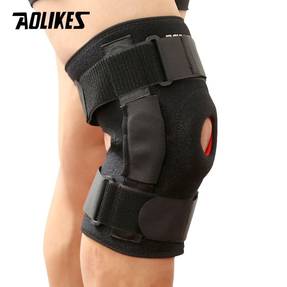 Đai Hỗ Trợ Khớp Gối Có Thanh Nhôm Trợ Lực Cao Cấp Sport Knee Protector AOLIKES YE-7907 - Hàng Chính Hãng