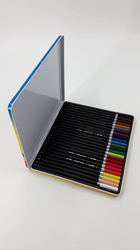 Bút Chì Màu Hộp Kim Loại SK-CP3002 (24 Màu/Hộp)