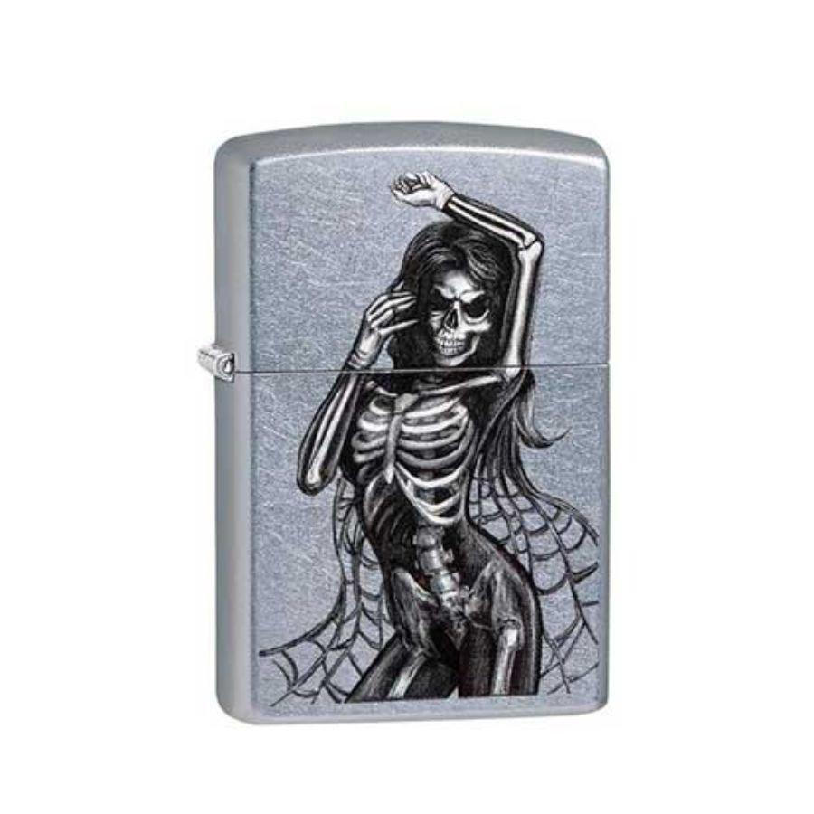 Bật Lửa Zippo Sexy Skeleton Street Chrome Chính Hãng Usa