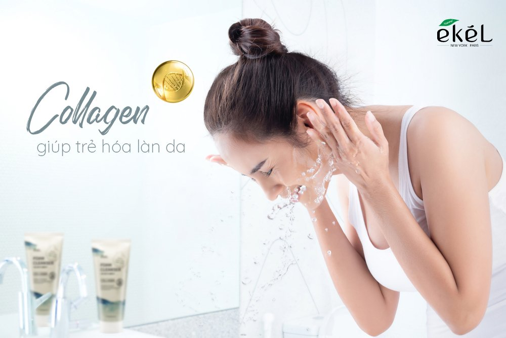 Sữa rửa mặt Collagen Ekel 180ml