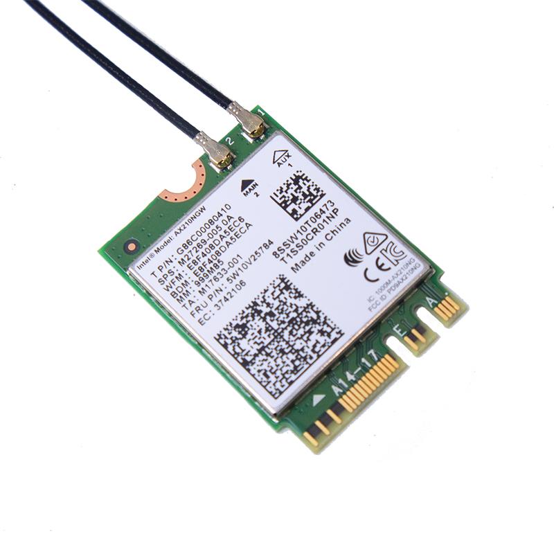 Bộ card WIFI Bluetooth Intel WIFI 6E AX210 5Ghz tốc độ 2400M và Bluetooth 5.2 cho máy bàn - Hàng nhập khẩu